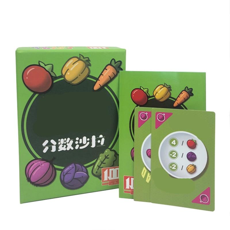 Jogadores engraçados 2-6 do jogo de tabuleiro da salada da fração para a família/festa/amigo enviam o presente das crianças