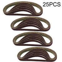 25pcs/Set  330 x 10mm Air Finger Sander Sadning Belt 60/80/100/120 Grit Replacement Sanding Belt Grit Paper for Angle Grinder