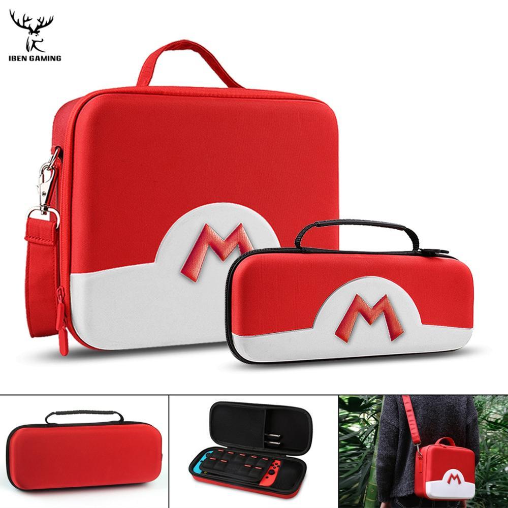 IBen Portable EVA sac de rangement housse de protection pour accessoires de commutateur ntint NS NX Pokeball accessoires de coque de protection