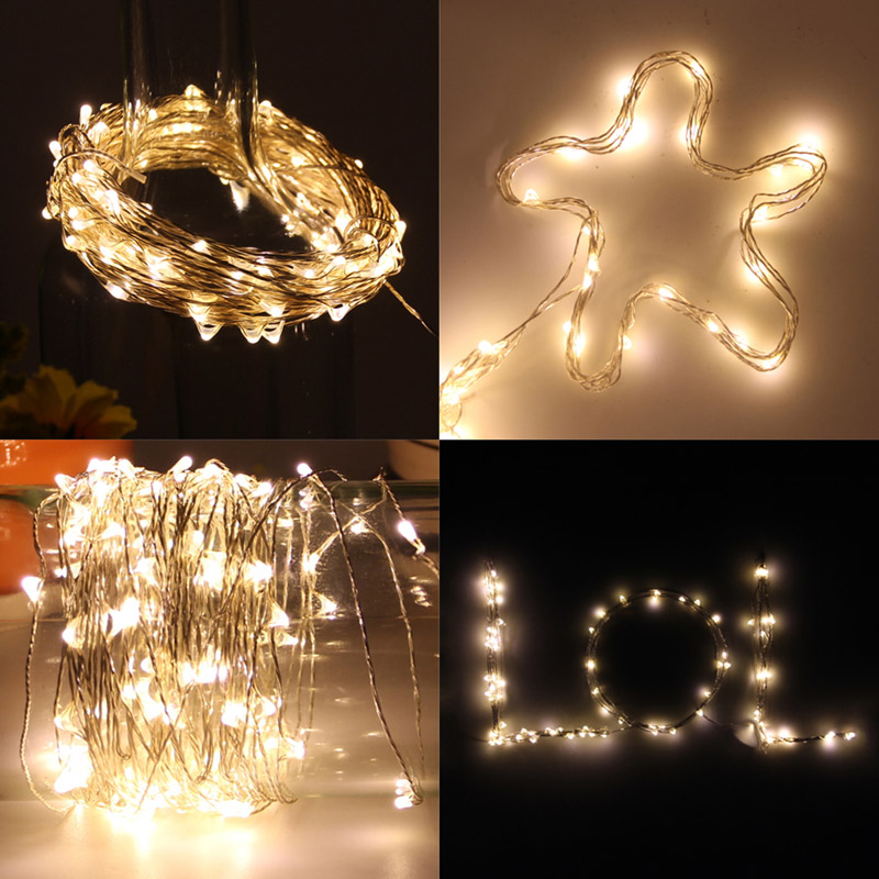 5V USB LED String Light 10M 5M Copper Wire Waterproof Fairy LED Christmas Lights For Wedding Party Holiday Decoration