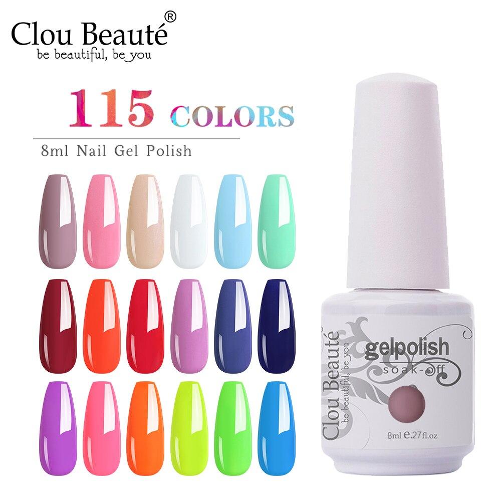 Clou beauté-Vernis à ongles UV Semi-Permanent, ensemble pour manucure avec Gel Gellak, 85 couleurs