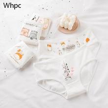 Panties-Set Cartoon Briefs Female Underwear Young-Girls Breathable Cotton Women's Cute