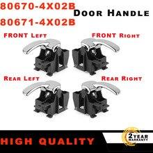 4x Door Handle Interior Front Rear Left Right For Nissan Pathfinder Navara D40 For Nissan Pathfinder 80670 4X02B 80671 4X02B