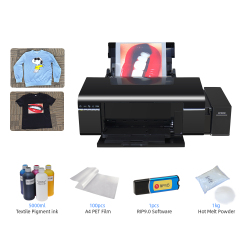 For Epson L805 A4 DTF Printer PET Film DTF Transfer Printing Machine Direct To Film T-shirt Printer With Ink All Kinds of Fabric