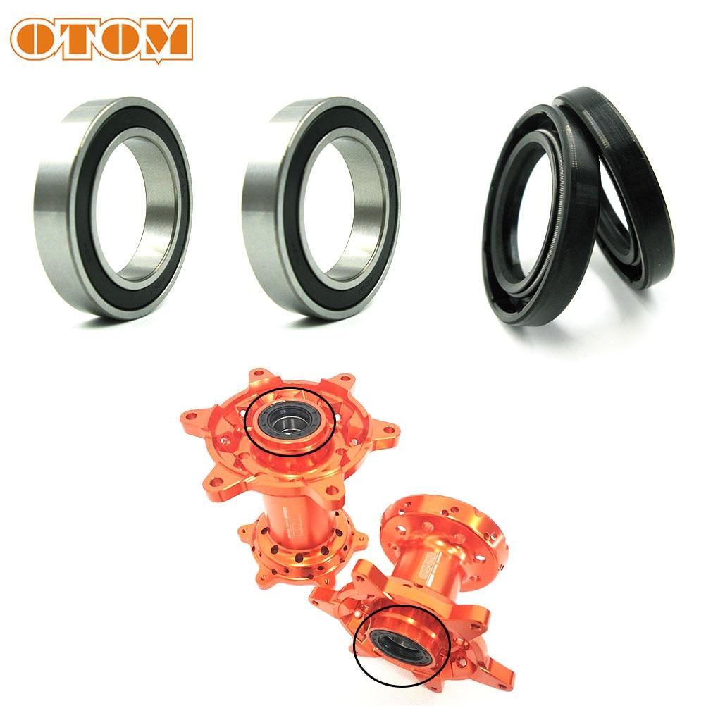 OTOM Motorcycle Front Rear Wheel Hub Oil Seal Bearing Set For KTM EXC SX XCF MXC SMR Husaberg Husqvarna TE FC FE 125 250 350 530