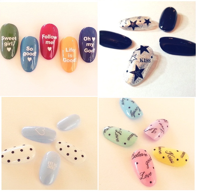 Top Form Brand Manicure Watermarking Adhesive Paper Flower Stickers Nail Sticker Water Shift Flower Stickers DLS258-265