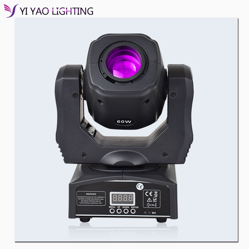 Dj lights 60W mini led moving head spot light beam moving head gobo stage dj light