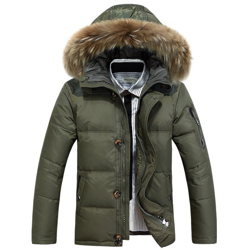 Мужская Новинка 2019, пуховик, повседневная мужская зимняя куртка, ветровка, белая куртка на утином пуху, Мужская толстовка/пальто для мужчин/Мужское пальто - 6