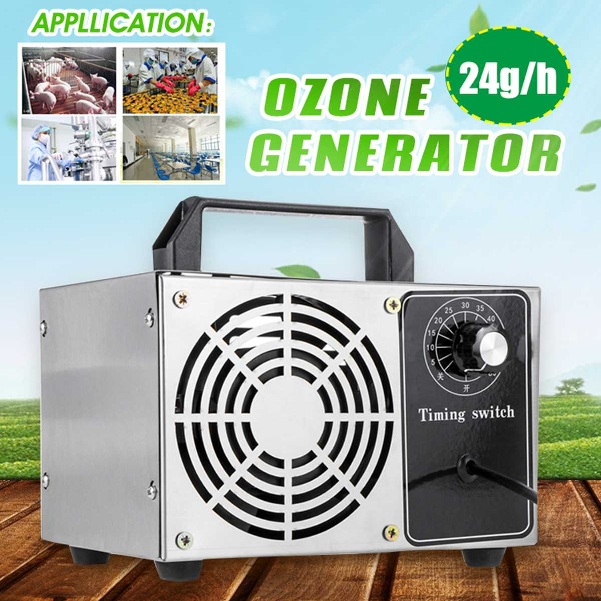 24g/h Ionizer Ozone Generator 220V/110V Air Purifiers Disinfection Machine Cleaner Sterilizer Odor Formaldehyde Removal Home use