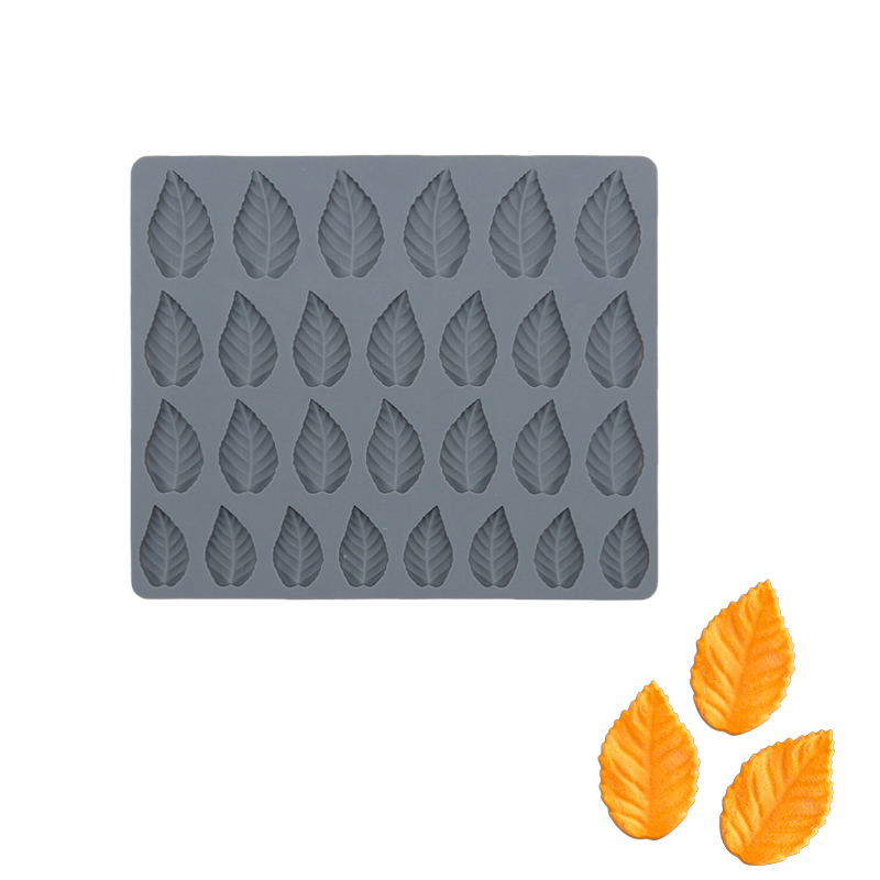 Silicone Cake Mold Leaf Shape 24 Holes Chocolate Mold For Baking Fondant Bakeware Accessories