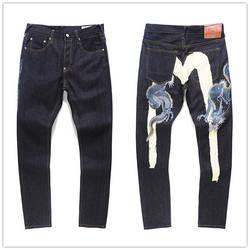 2020 Authentieke Evisu Top Kwaliteit Mode Casual Hip Hop mannen Jeans Borduren Afdrukken mannen Ademende Rechte Broek