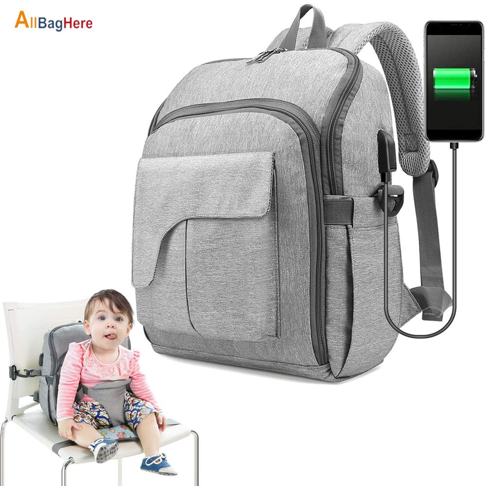Multifunctional Maternity Diaper Bag Fashion Mummy Travel Backpacks Large Capacity Waterproof Baby Seat Fixed Women Bags For Mom