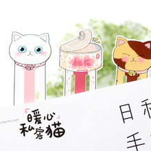 30 pcs/pack  Warm Heart Private House Cat Bookmark Stationery Office-Supplies School