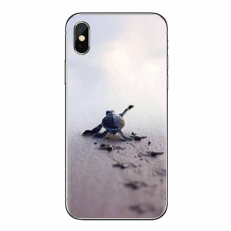 Iphone için kılıf XS Max XR X 4 4S 5 5S 5C SE 6 6S 7 8 Artı Samsung galaxy J1 J3 J5 J7 A3 A5 Runn ittle dostum Bebek Kaplumbağa kaplumbağa