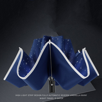 Foldable Automatic Umbrella with Reflective Strips 3
