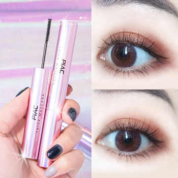 PIAC eyelash long natural small brush head female thick coils become warped eyelash to cream waterproof and sweat image