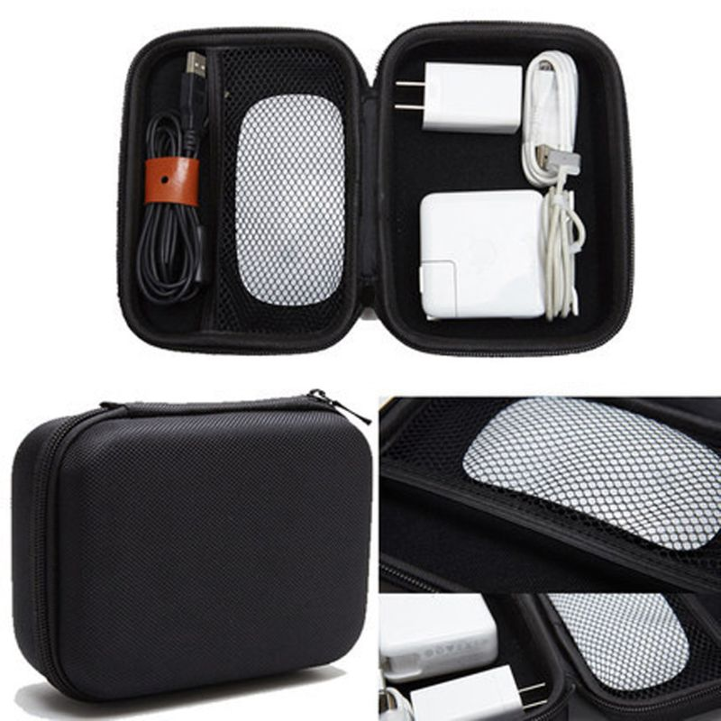 EVA Hard Case For Apple Pencil Magic Mouse Magsafe Power Adapter Carry Case