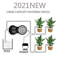 Heißer Verkauf Intelligente Tropf Bewässerung System Set Wasserpumpe Automatische Bewässerung Gerät Timer Garten Selbst-Bewässerung Kit Für Topf