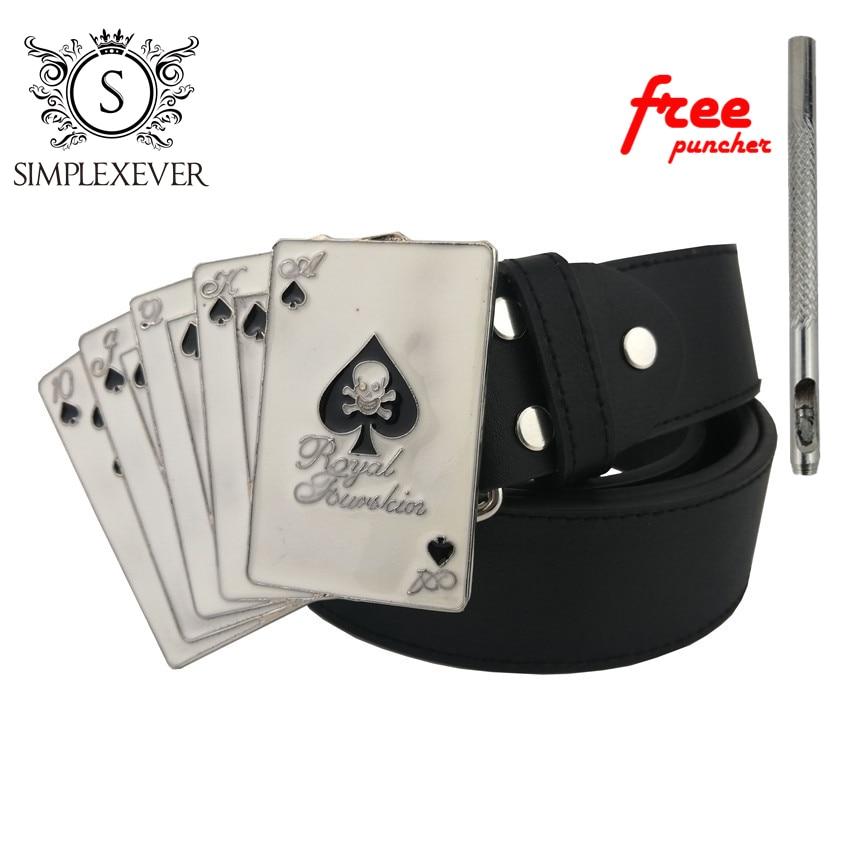 Belt Buckle White Casino Poker Belt Buckle Drop Shipping with Leather Belt Men's Belt Buckle