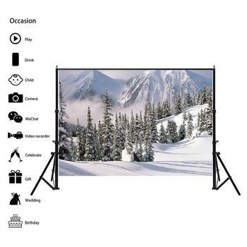 Minimoto invierno nieve al aire libre Tema de escena fotografía de fondo de vinilo no tejido foto estudio telón de fondo accesorios para cámara de vídeo