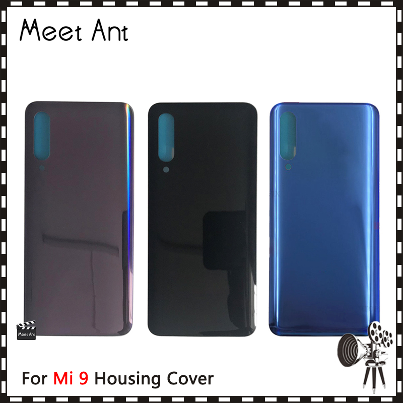 Replacement High quality For <font><b>Xiaomi</b></font> <font><b>Mi</b></font> <font><b>9</b></font> Mi9 Back Housing <font><b>Battery</b></font> <font><b>Cover</b></font> Door Rear <font><b>Cover</b></font> with Adhesive image