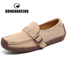 Dongnanfeng/женские мокасины из коровьей замши; Обувь натуральной