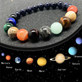 Браслет Momiji с восьми планетами из натурального камня, ювелирные изделия молочного пути с ярким звездным небом, романтичные Модные женские у...