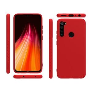 Image 4 - Redmi Note 8 Pro Case Casing NILLKIN Liquid Smooth Silicone Case For Xiaomi Redmi Note 8 Pro Cover Luxury Protective Bags