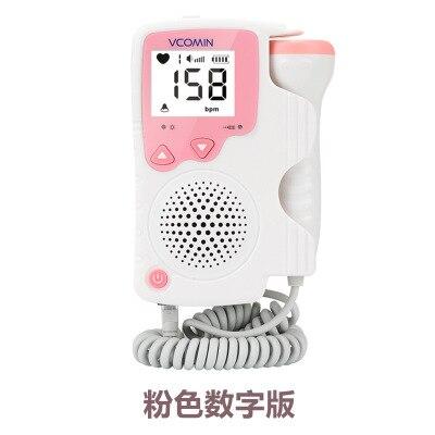 Handheld Fetal Doppler Prenatal Baby Heart Rate Detector Household Sonar Doppler Heartbeat Monitor For Pregnant Women