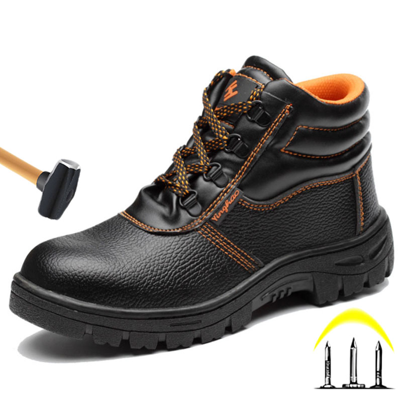Winter Boots Toe-Shoes Steel Anti-Smashing Men New Ankle Piercing