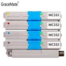GraceMate Toner Cartridge Compatible for OKI C332 MC363 C332dn Printers Toner Cartridges Black and Color oki c332dn