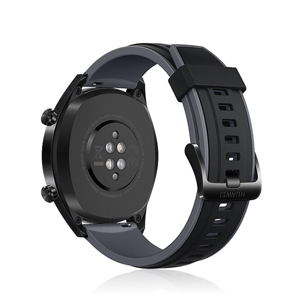 Reloj inteligente Original Global HUAWEI GT resistente al agua con rastreador de frecuencia cardíaca GPS hombre rastreador deportivo reloj inteligente para Android IOS - 4