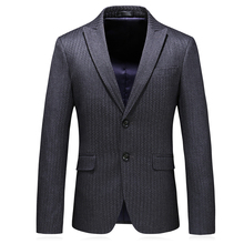 luxury men fashion blazer 2019 new brand single button gray blazers for slim fit plus size 5xl