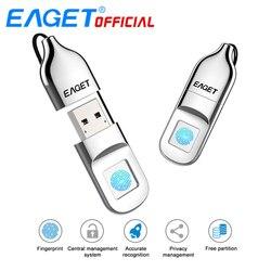 EAGET USB Флешка 64 ГБ Накопитель Отпечатков Пальцев Компактный Накопитель С Шифрованием 32GB USB Флэш-Накопитель Флкшка Для Ноутбука PC