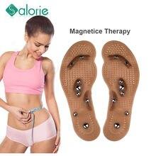 Zdrowie Massageador 1 para magnetyczny masażer do stóp wkładka stóp punkt akupunktury terapia wkładka ciała Detox odchudzanie magnes wkładka