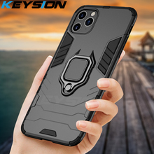 KEYSION Shockproof Armor Phone Case For iPhone 11 Pro Max 2019 Stand Car Ring Back Cover Apple
