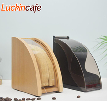 V60 dust filter paper holder hand-made coffee filter box solid wood acrylic filter paper holder filter paper storage box