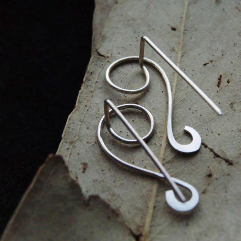 925 prata orelha alpinista brincos feitos à mão personalizado círculo brinco ouro enchido jóias punk oorbellen minimalista brincos para mulher