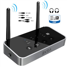 EKSA 3 in 1 Bluetooth 5,0 Audio Receiver Transmitter AptX LL/HD Für TV Lautsprecher Auto PC Wireless Adapter SPDIF RCA 3,5mm AUX NFC
