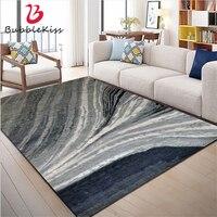 Bolha beijo tapetes para sala de estar europeu abstrato azul cinza listrado padrão tapetes para sala estar decoração tapetes delicados