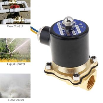 Solenoid Valve DC 12V 220V Check Valve 1/2  Brass Electric Solenoid Valve Normally Closed Valve for Water Oil Air Fuels 3991624 fuel shutdown solenoid valve sa 4959 12 for 5 9b excavator 12v