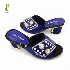 Image 2 - Chaussons pour femmes chaussons pour femmes nigérians avec diamants pour chaussures pour femmes