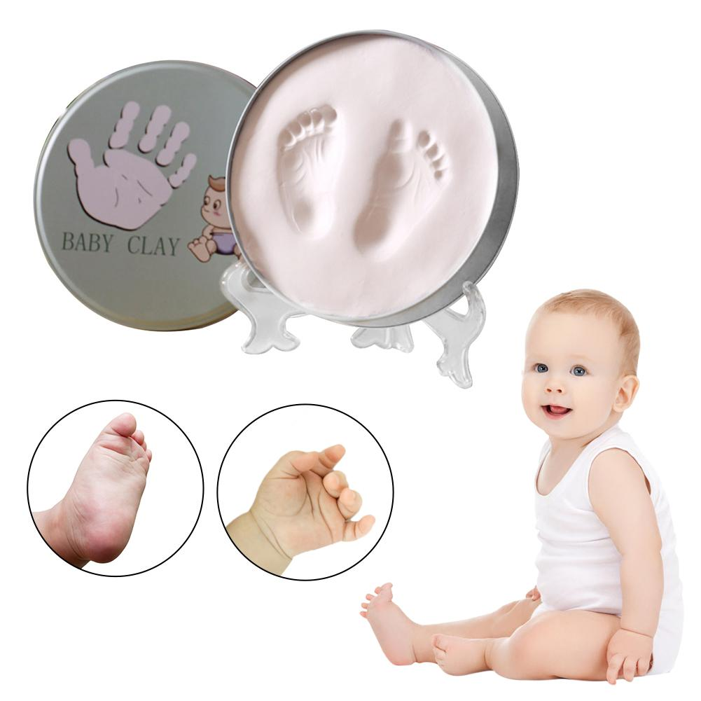 Newborn Baby Hand And Foot Inkpad Photo Frame Hand And Foot Print Souvenir Soft Clay Infant Handprint Footprint Mud