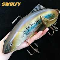 20 cm/30 cm 134g/300g gran juego 3D señuelos de plástico cebos blandos cebo de silicona para pesca artificial isca pesca
