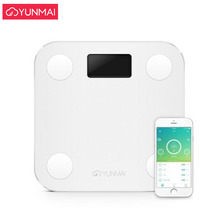 цены Hot Sale White Smart YUNMAI Mini Scales Household Premium Support Bluetooth APP Fat Percentage Digital Body Fat Weighing Scale