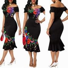 Md dashiki платья с Африканским принтом для женщин вечерние