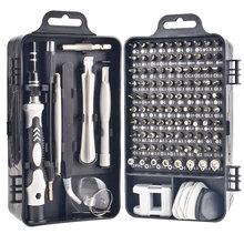 1Pcs 115 in 1 Magnetic Screwdriver Bits Set Precision Mobile Phone Repair Torx Hex Multifunction Screw Drive Hand Tools Kit