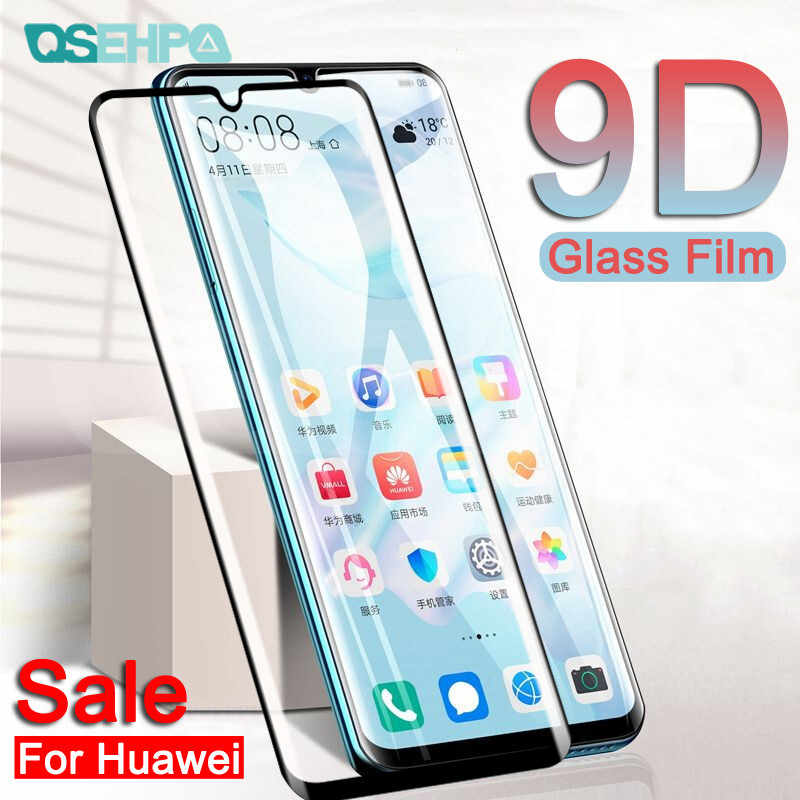 9D Full Cover Tempered Glass For Huawei P30 P20 Pro Lite P10 Lite Plus P Smart 2019 Screen Protector Protective Glass Film Case