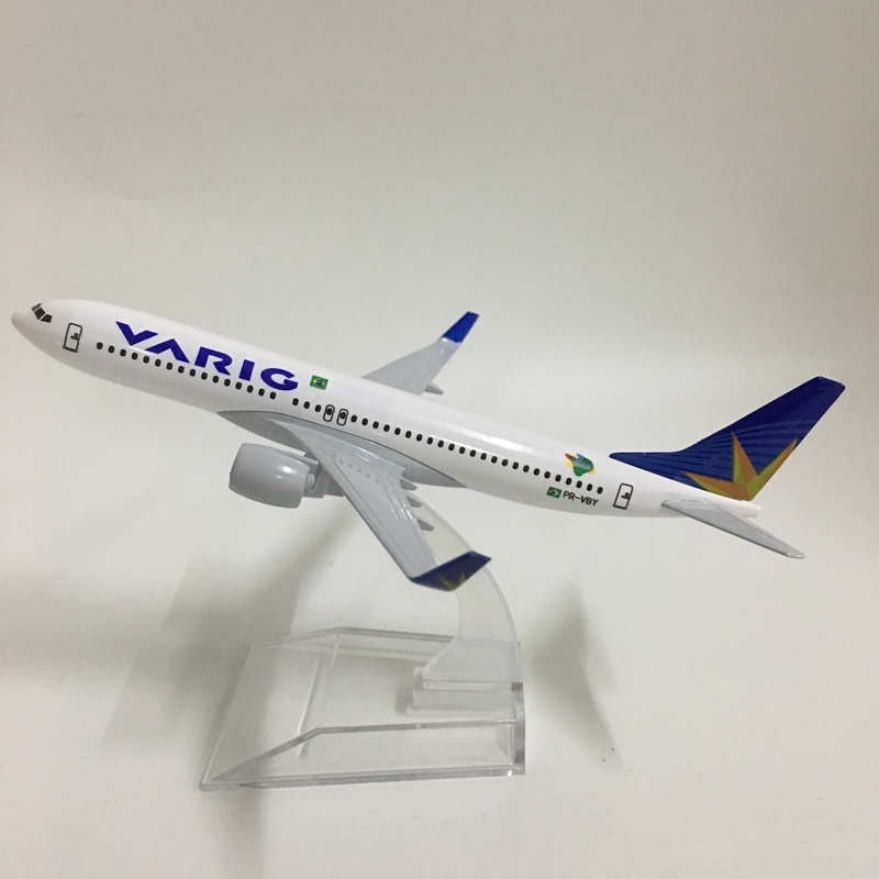 BRAZIL VARIG AIRLINES B737-800 16cm Metal Airplane Birthday Gift Plane Models Toys For Children Free Shipping