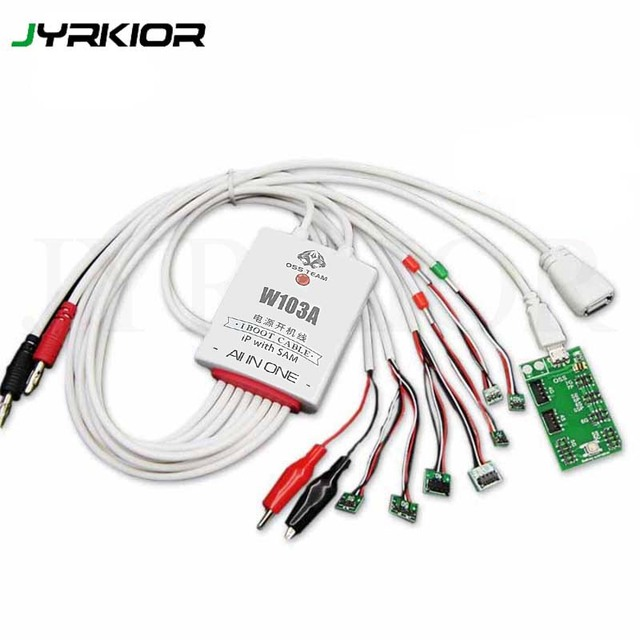 Jyrkior For iPhone 5/6/6s/7/8/X XS XS MAX XR/11 PRO MAX Boot line Test line Phone Service DC Power Supply Current Testing Cable